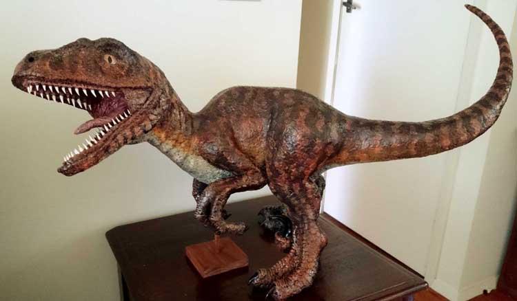 ben's paper mache dinosaur