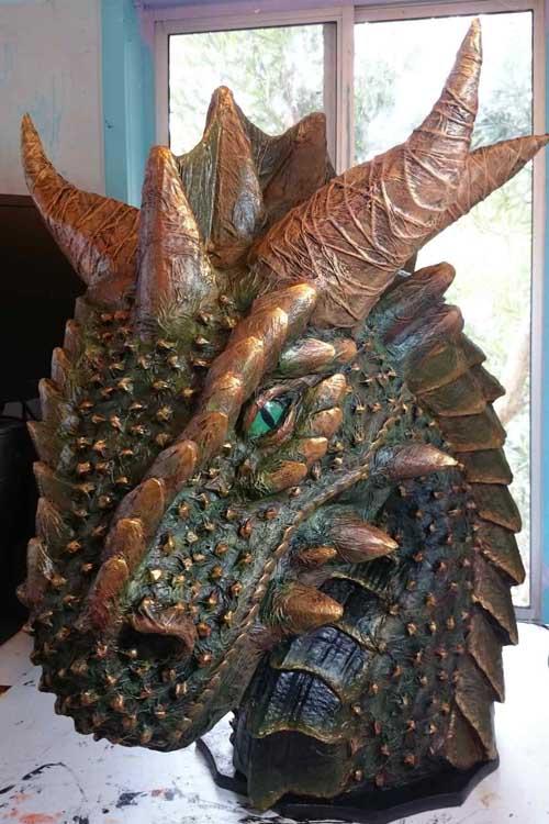 ben's paper mache dragon2