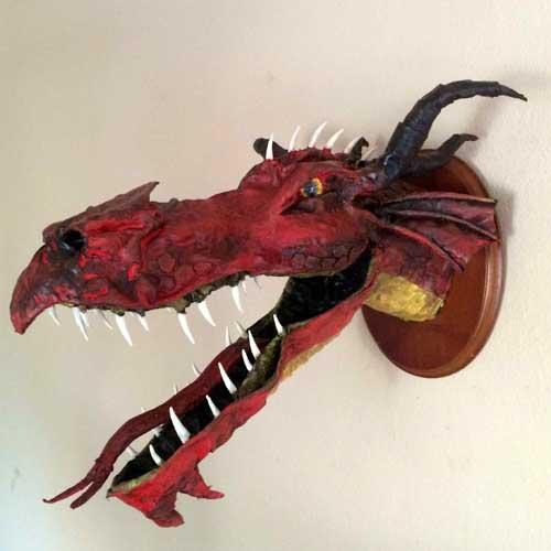 Dan Wolff's paper mache dragon