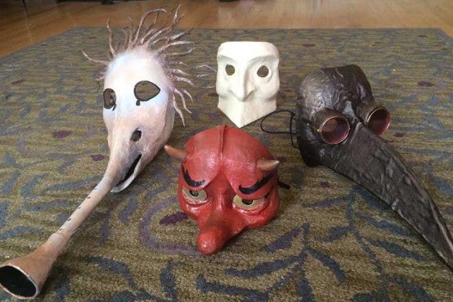 Dan Wolff's paper mache masks