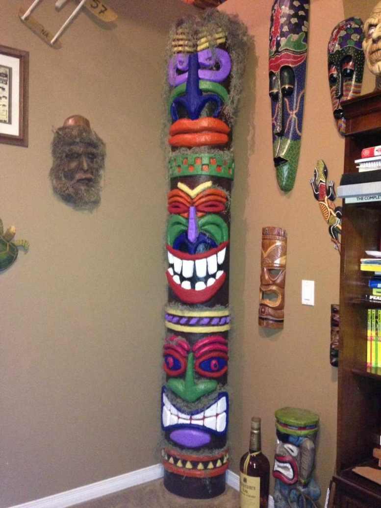 david Wood's paper mache totem