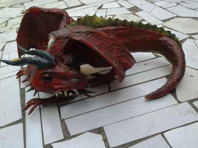 Josenilson Silvas paper mache dragon