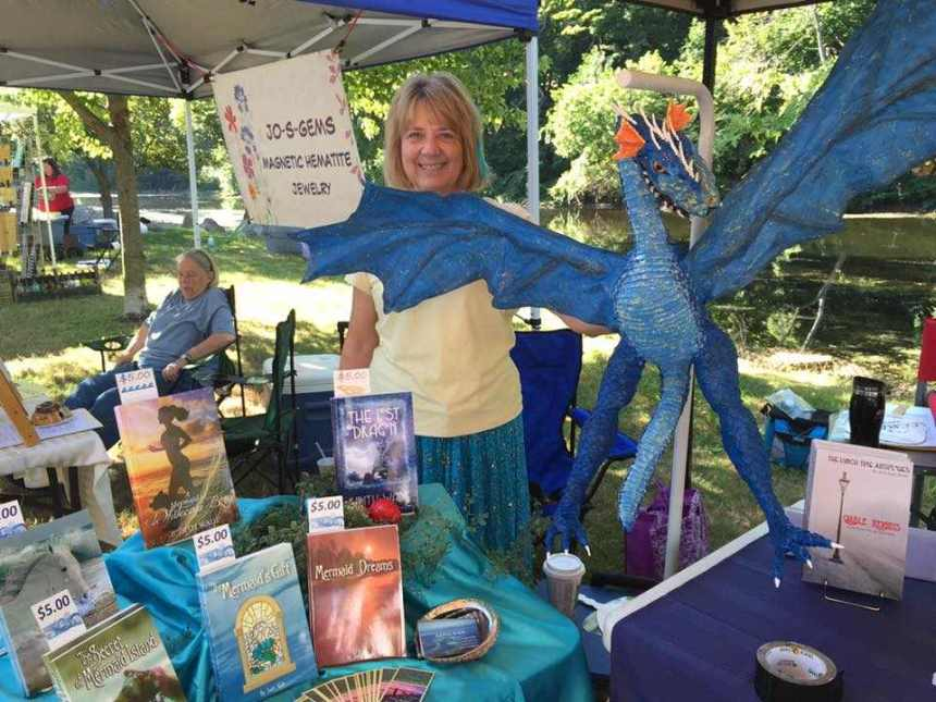 Judith Wade's paper mache dragon