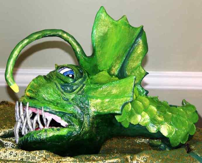 Leslie Haugen's paper mache fish