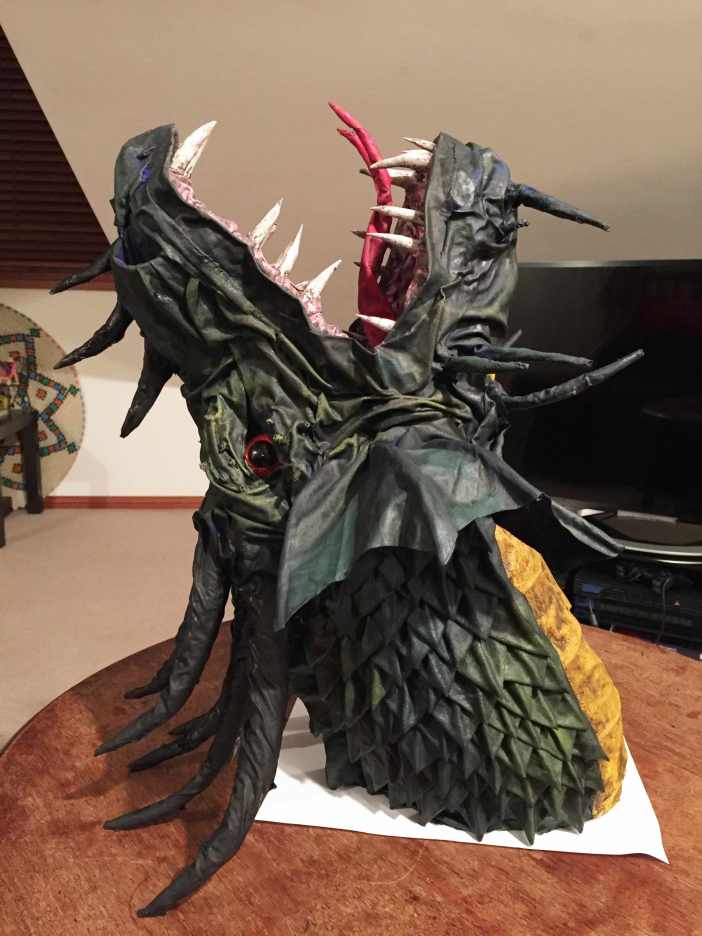 Sarahs paper mache Dragon