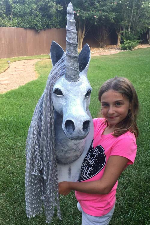 shauntelle Thompson's unicorn with Sophie