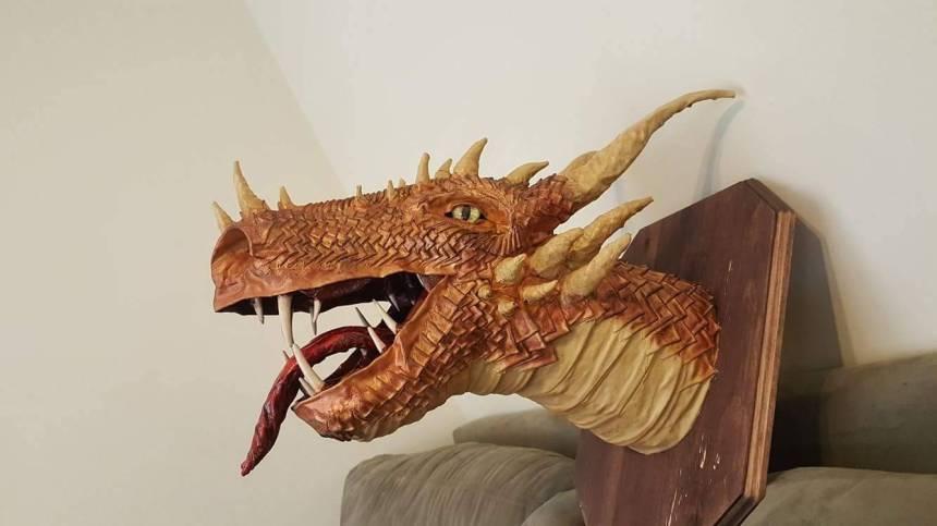 bradley-pierces-paper-mache-dragon-trophy