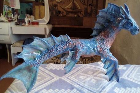 Марфа's paper mache seadragon