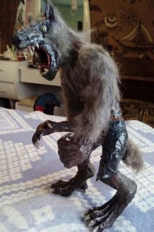 Марфа's paper mache wolfman