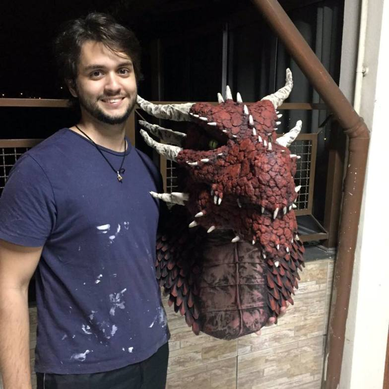 João with his new dragon trophy