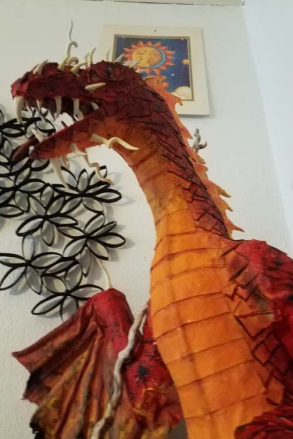 Anna's paper mache dragon