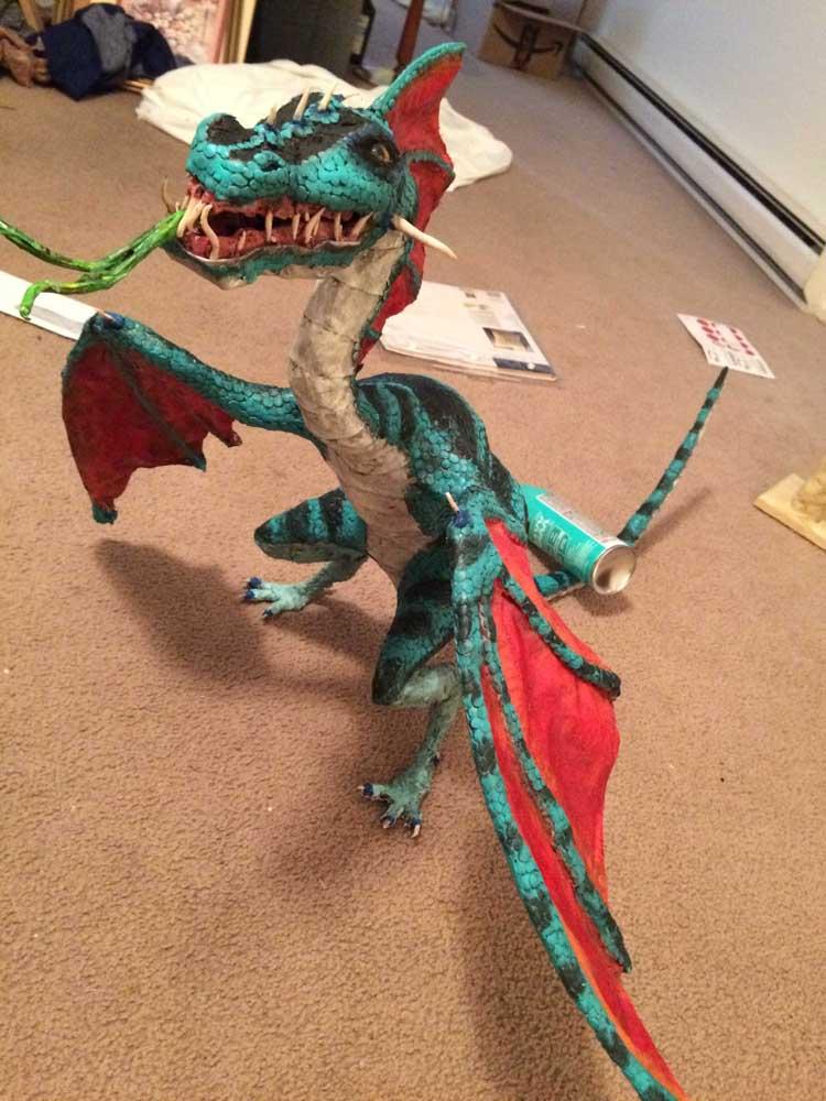 Nicolas Rammell's paper mache dragon
