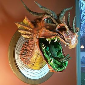 Stephanie Turic's first paper mache dragon 2