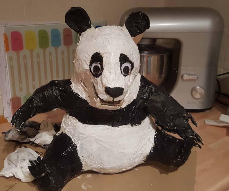 Andy's paper mache panda