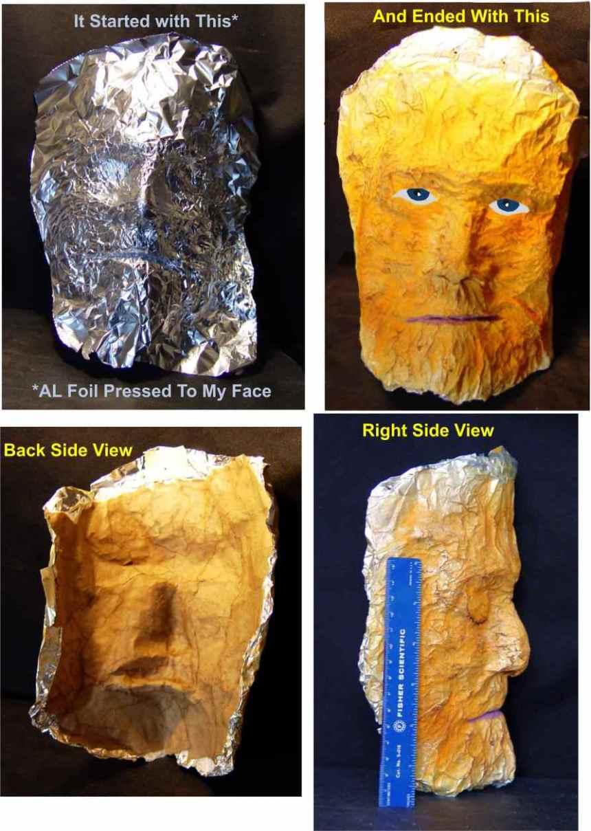 Bob Centamore's paper mache mask