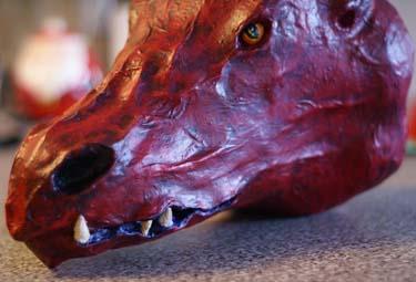 Erins paper mache dragon