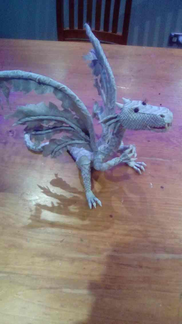 Glenn Berry's paper mache dragon