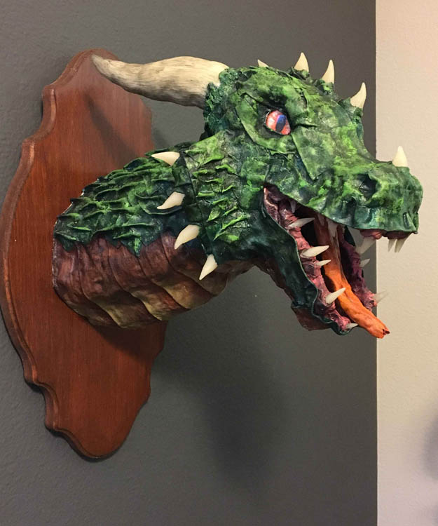 Kimberly Winberry's paper mache dragon