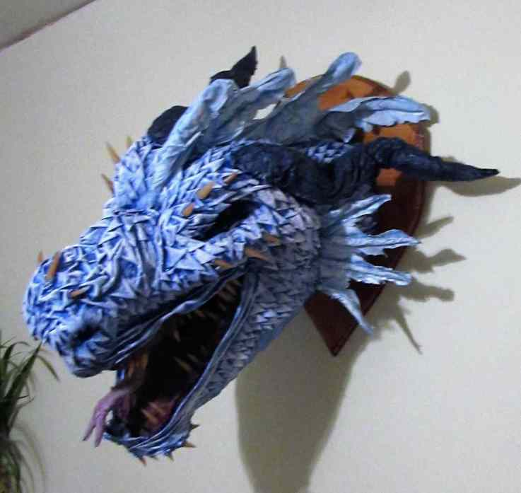 Jennifer Buckingham's paper mache dragon