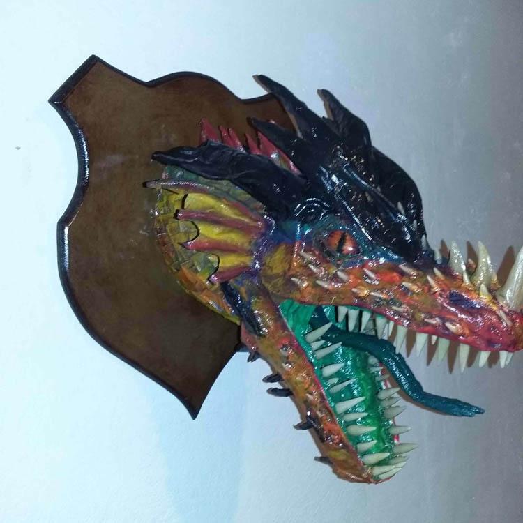 jesus paper mache dragon