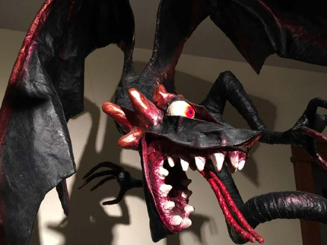 Tim Speyer's black dragon- close up
