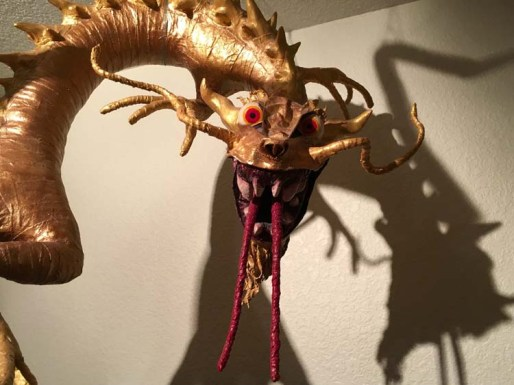 Tim Speyer's new paper mache dragon- close up