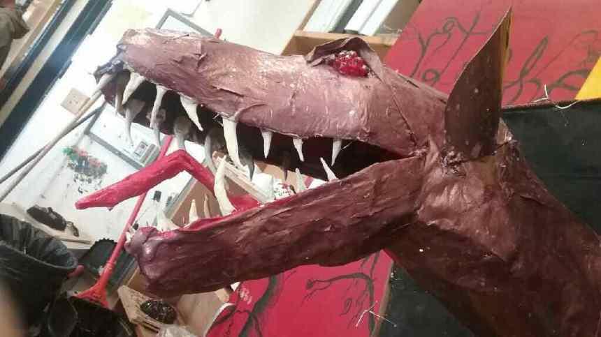 Vanessa's paper mache dragon