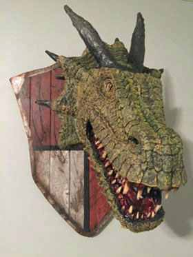chad Dean's paper mache Dragon