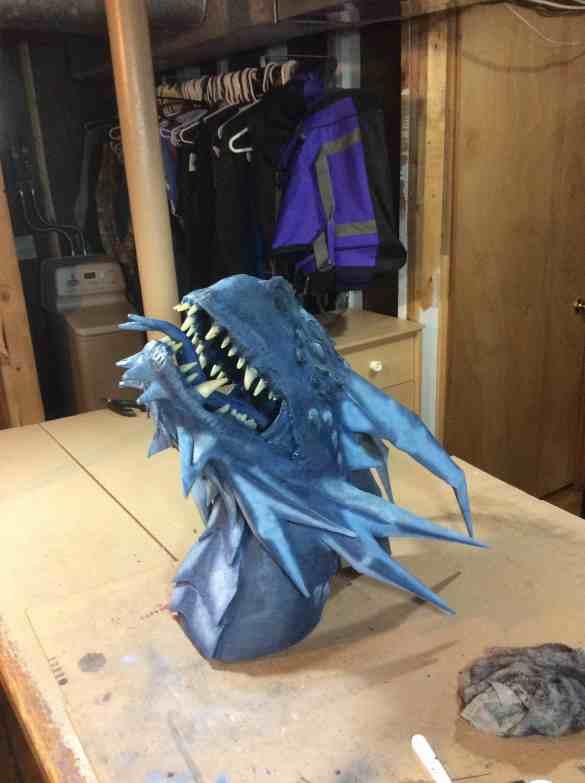 """Jeremy Boelter's paper mache """"Ice"""""""