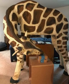 Grace Jerome's paper mache Giraffe