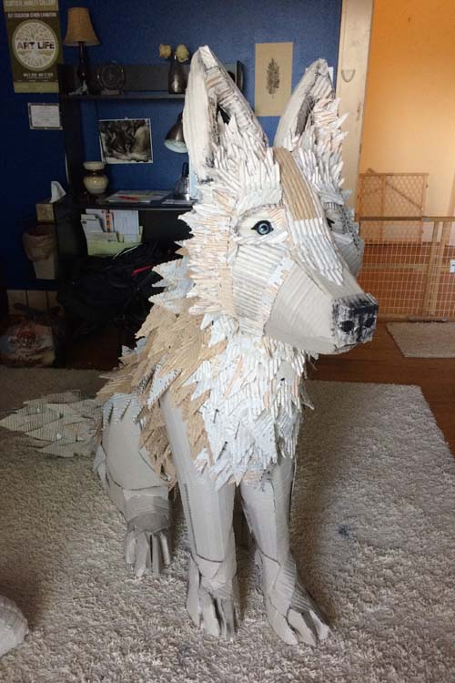 Grace Jerome's paper mache Fox
