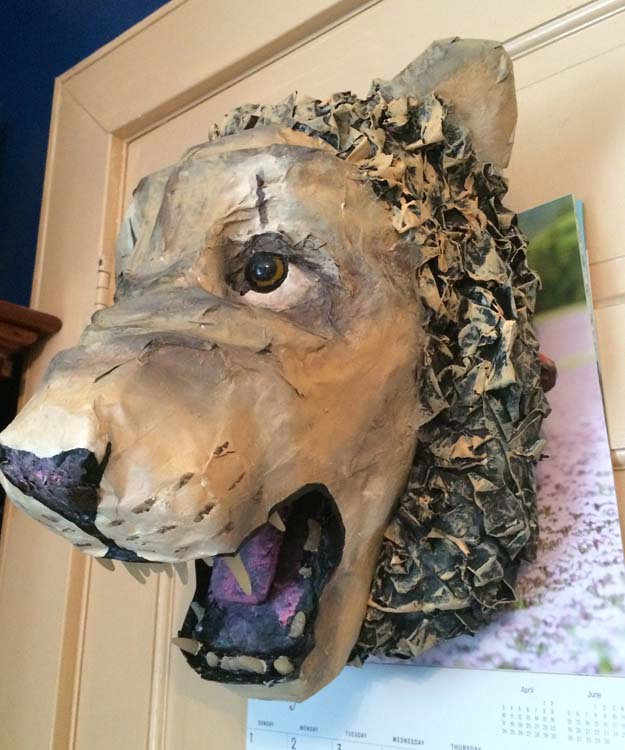 Grace Jerome's paper mache Lion