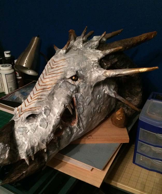 Grace Jerome's paper mache dragon