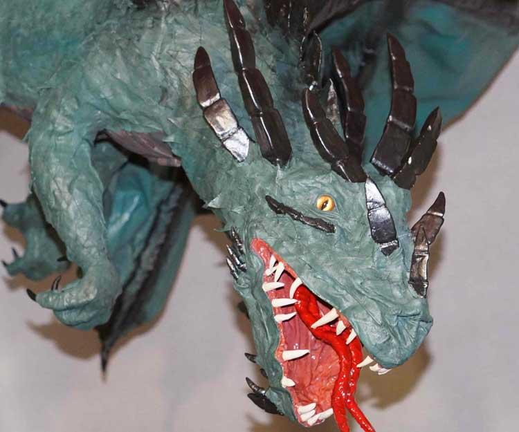 Kseniya's paper mache dragon 2