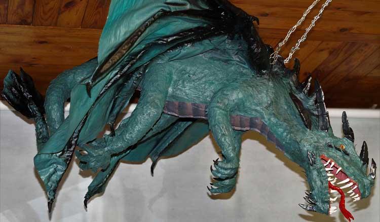 Kseniya's paper mache dragon 3