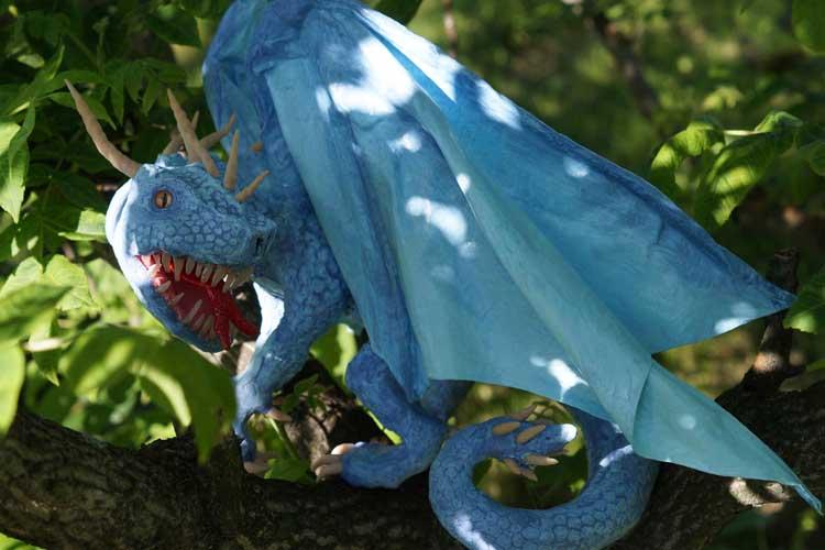 Kseniya's paper mache dragon