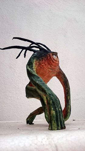 Noninox Cenicerox paper mache art