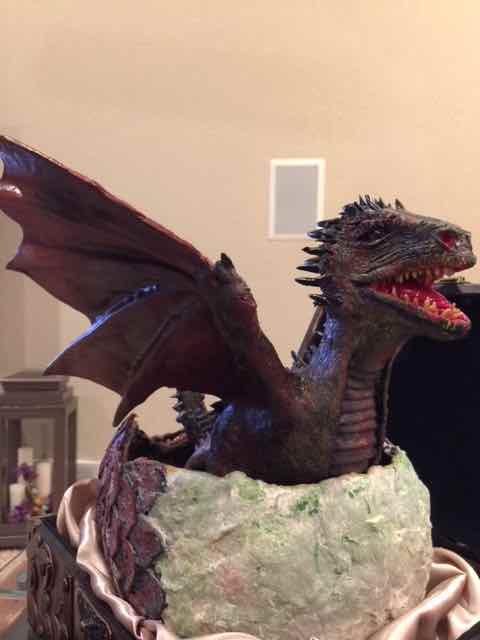 Ann Wright's paper mache baby dragon