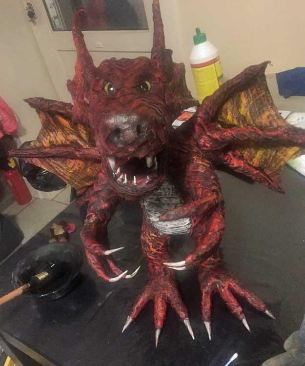 Bert Houbrechts' paper mache dragon