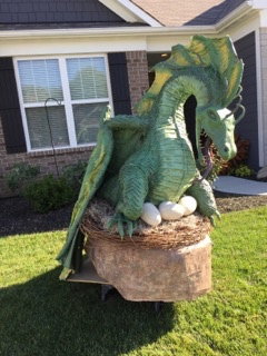 Bill Wehmeier's paper mache dragon