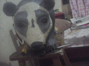 carlos moran's paper mache spectacled bear