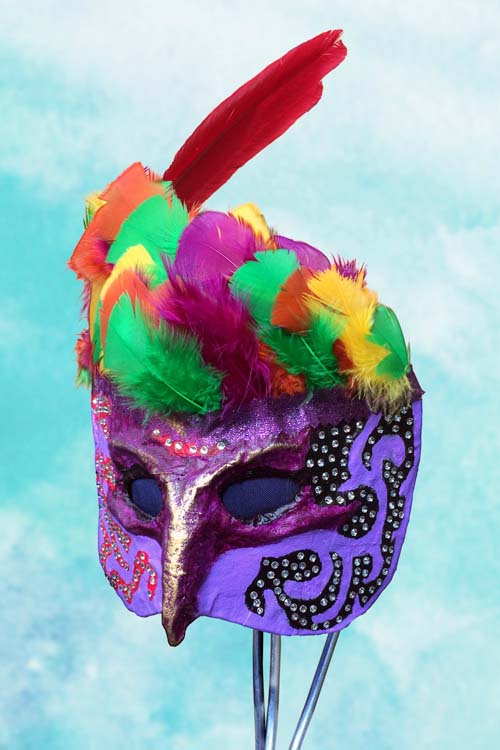 Thomas Rozek paper mache mask, casual-friday