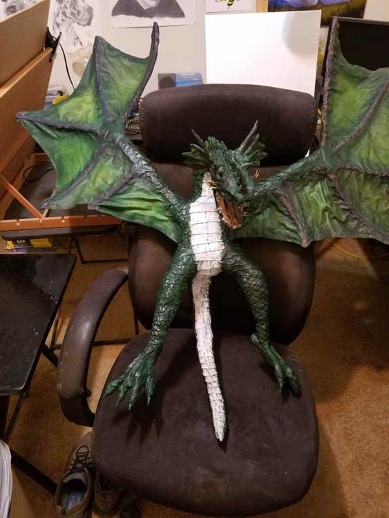Chris Fitzhugh's first paper mache dragon