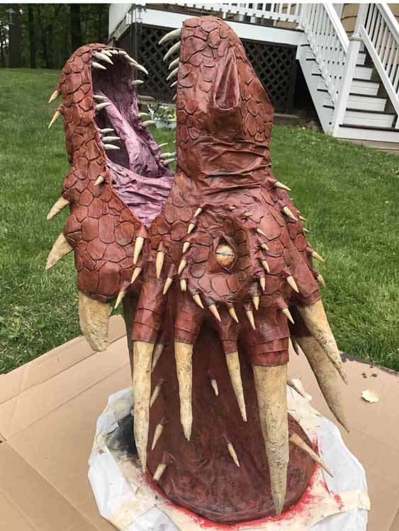 Chris Gilbert's paper mache dragon Prometheus
