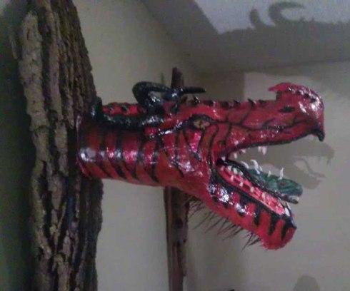 Gord Merritt's paper mache dragon3
