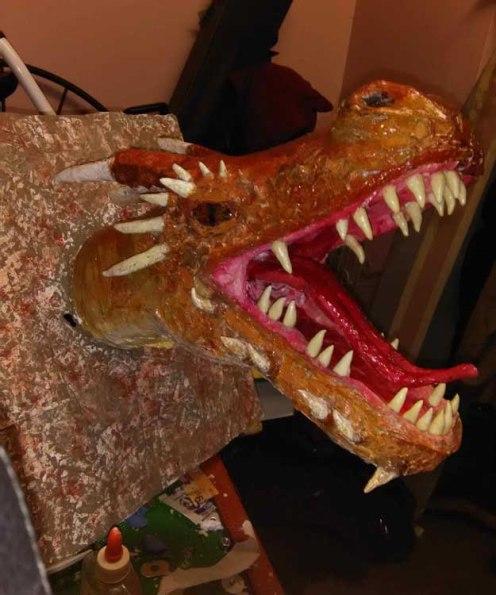 Gord Merritt's paper mache dragon