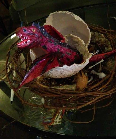 Gord Merritt's paper mache baby dragon