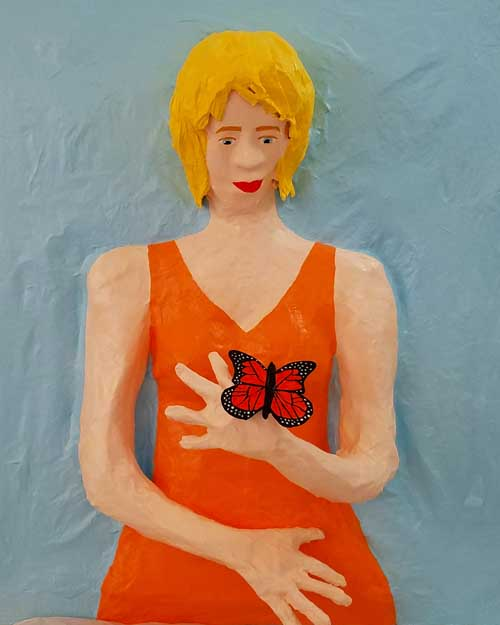 HEATHER FORSTERs paper mache lady