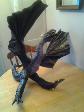 janet davidson's paper mache dragon