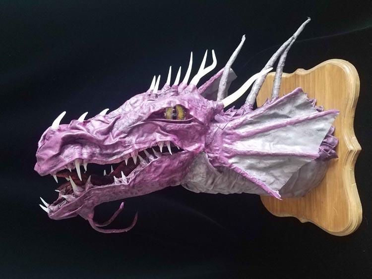 Kim Wendelin'a paper mache dragon